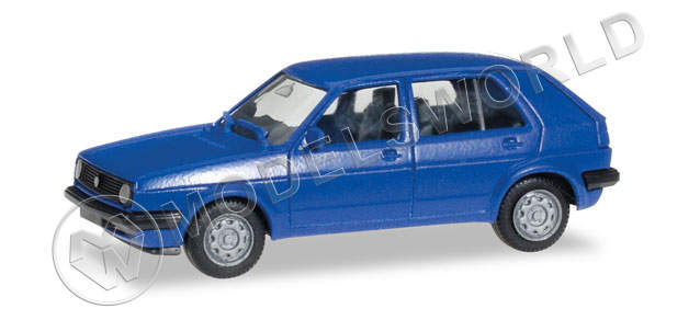 Модель автомобиля VW Golf II 4 doors, синий. H0 1:87