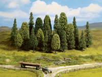 Набор деревьев, смешанный лес, 6.5-11 см, 25 шт