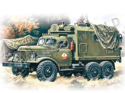 Склеиваемая пластиковая модель грузовика Зил-157 КП. Масштаб 1:72 - купить в интернет-магазине Мир Моделей