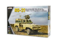 Склеиваемая пластиковая модель RG-31 Mk.3 Canadian Army Mine Protected Armoured Personnel Carrier with RWS. Масштаб 1:35