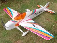 Радиоуправляемая модель самолета Rainbow F3A 3D Aerobatic, с бесколлекторным электродвигателем, версия: RTF, 4ch, 2.4G, цвет Red