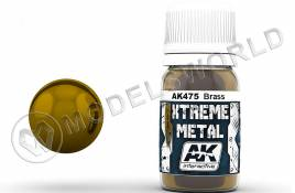 Краска AK Interactive XTREME METAL BRASS. 30 мл