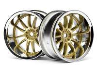 Диски туринг 1/10 WORK XSA 02C WHEEL 26мм CHROME/GOLD (9mm OFFSET) 2шт