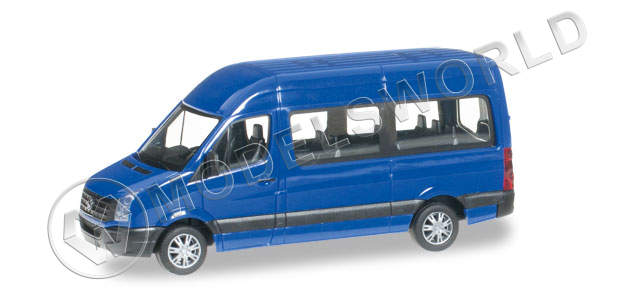 Модель автомобиля VW Crafter high roof, синий ультрамарин. H0 1:87