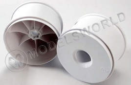 "Wheels, dished 3.8"" (white) (2) (use with 17mm splined wheel hubs and wheel nuts,  part #5353X)"