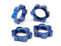 Колесные гайки 17мм., 4шт. Wheel hubs, splined, 17mm (blue-anodized) (4)/ wheel nuts, splined, 17mm (blue-anodized) (4)/ screw