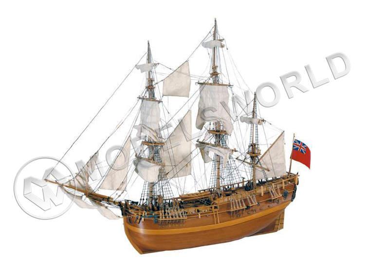 Набор для постройки модели ENDEAVOUR английский барк, корабль капитана Кука. Масштаб 1:60 - купить в интернет-магазине Мир Моделей